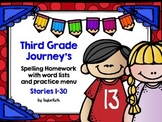 Third Grade Journey's Spelling Homework with Word List and