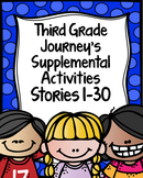 Third Grade Journey's Supplemental Activities Bundled Stories 1-30
