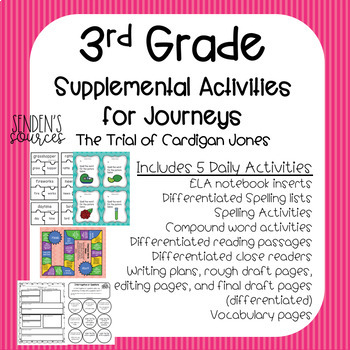 Third Grade Journeys Supplemental Fun Lesson 2 Trial of Cardigan Differentiated