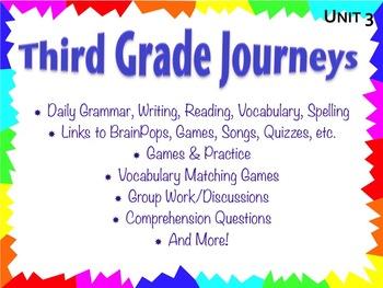 Third Grade Journeys Unit 3 Interactive Notebook Presentation