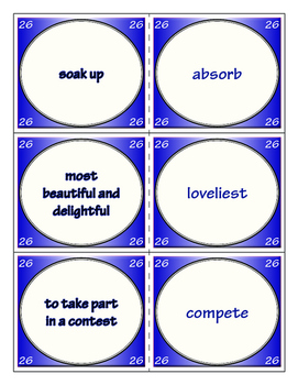 Third Grade Journeys Unit 6 Vocabulary Flashcards