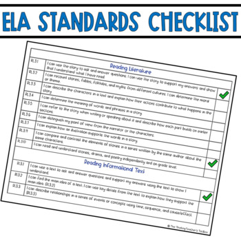 I Can Statements Common Core ELA for Third Grade