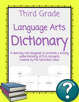 Third Grade Language Arts Dictionary