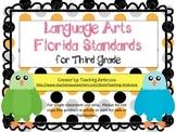 Third Grade Language Arts FL Standards Checklist Eagle by Teaching Ambrosia