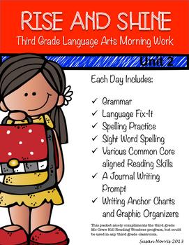 Third Grade Language Arts Morning Work Unit 2