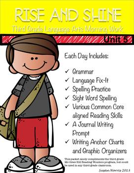 Third Grade Language Arts Morning Work Unit 5