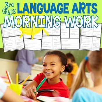 Third Grade Language Arts Morning Work or Homework - Language Spiral Review