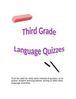 Third Grade Language Arts Quizzes