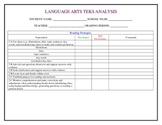 Third Grade Language Arts TEKS Analysis Document