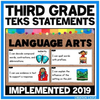 Third Grade Language Arts TEKS - Can and Will Standards St