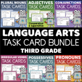 Third Grade Language Arts Task Cards BUNDLE Grammar