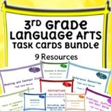 Third Grade Language Arts Task Cards Bundle