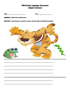 Third Grade Language Assessment (Simple Sentence)