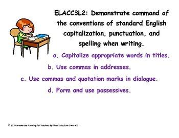 Third Grade Language CCGPS Standards