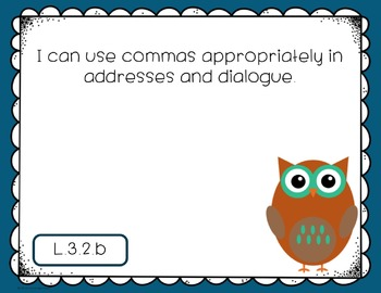 """Third Grade Language CCSS """"I Can"""" Posters {Owl Theme}"""