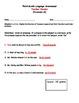 Third Grade Language (Pronouns) Assessment