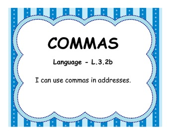 Third Grade Language Standards - Aligned with Common Core