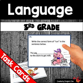 3rd Grade Language Task Cards