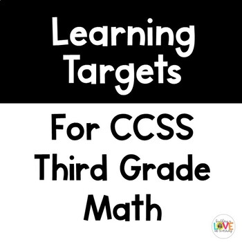 Third Grade Math Learning Targets
