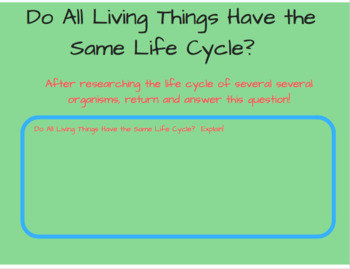 Third Grade Life Cycles Interactive Power Point Notebook NGSS 3-LS1