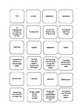Third Grade Life Science Vocabulary