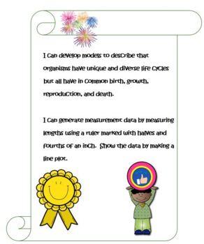 Third Grade Life Science and Math- Life Cycles