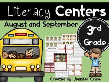 Third Grade Literacy Centers for August and September