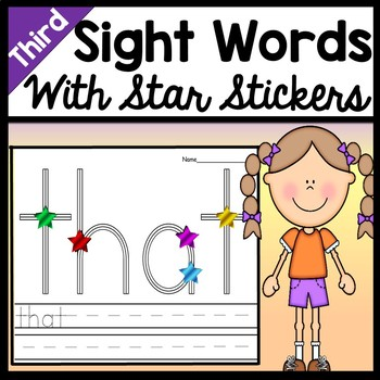 Third Grade Literacy Centers with Star Stickers {41 Words!}