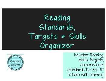 Common Core Reading Standards Targets + Purpose