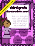 3rd Grade Literature Choice Board with Graphic Aids- Task Card Option Included