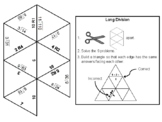 Third Grade Long Division with Remainders Game: Math Tarsia Puzzle