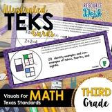 Third Grade MATH TEKS - Illustrated and Organized Objectiv
