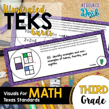 Third Grade MATH TEKS - Illustrated and Organized Objectiv