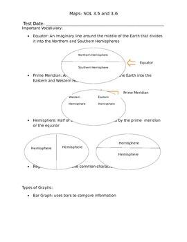 Third Grade Map Study Guide
