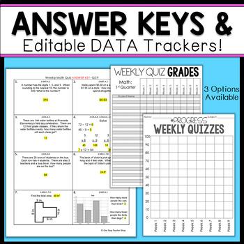 3rd Grade Math Assessments | 3rd Grade Math Quizzes EDITABLE