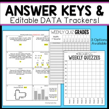 3rd Grade Math Assessments | Weekly Spiral Assessments for ENTIRE YEAR