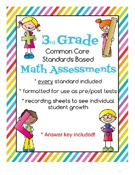 Third Grade Math Formative Assessments - Standards Based