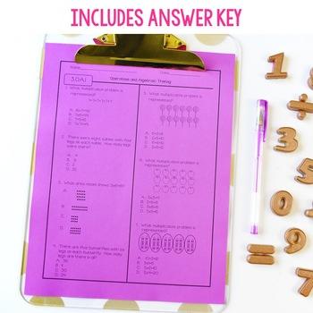 Third Grade Math Assessments Test Prep Edition