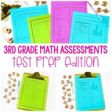 Third Grade Math Assessments Test Prep Edition - Editable