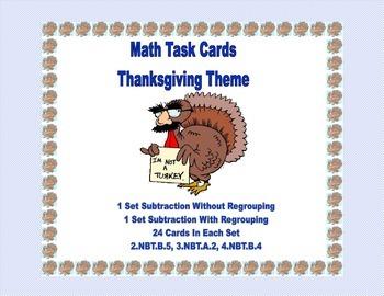 Third Grade Math Bundle Thanksgiving Themed 5 CCSS