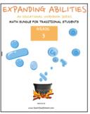 Grade 3 Math Bundle for Traditional Students: Alg., Geo., Frac., Base10, M&D