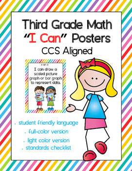 "Third Grade Math CCSS ""I Can"" Posters"