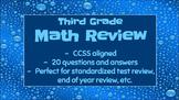 Third Grade Math CCSS Review Power Point (Test Prep)