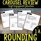 Third Grade Math Carousel Review: UNIT 1A Rounding