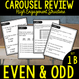 Third Grade Math Carousel Review: UNIT 1B Even & Odd
