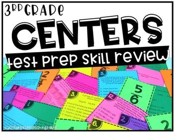 Third Grade Math Centers Test Prep Review