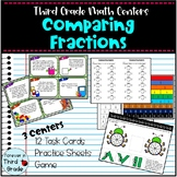 Third Grade Math Centers: Comparing Fractions