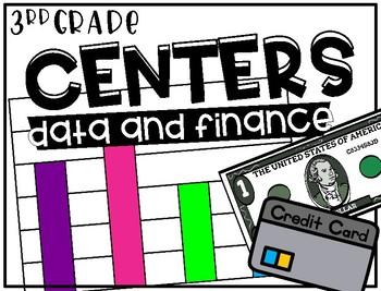 Third Grade Math Centers Data and Finance