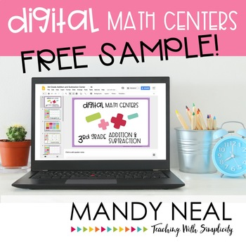Third Grade Math Centers ~ Digital Edition - FREE