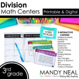 Third Grade Digital Math Centers Division | Distance Learning